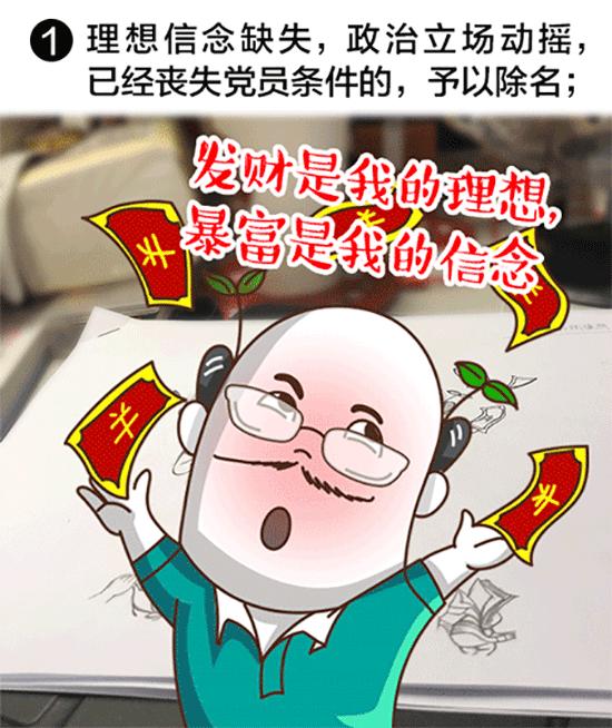 中纪委漫画详解党员被给予除名处置的六种情形