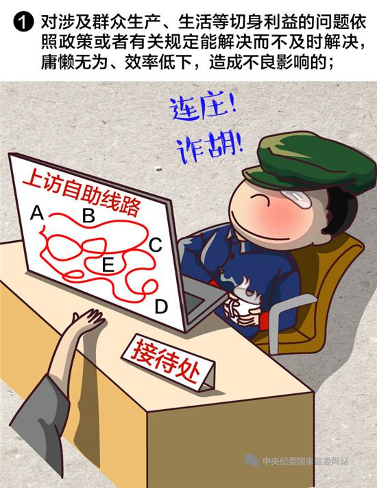 中纪委漫画详解:干部这样对待群众将被处分